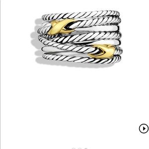 David Yurman X Crossover Ring with Gold
